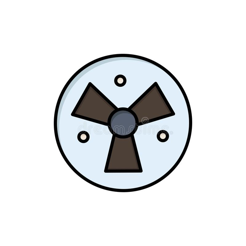Радиация, предупреждение, медицинское, значок цвета вентилятора плоский Шаблон знамени значка вектора иллюстрация штока