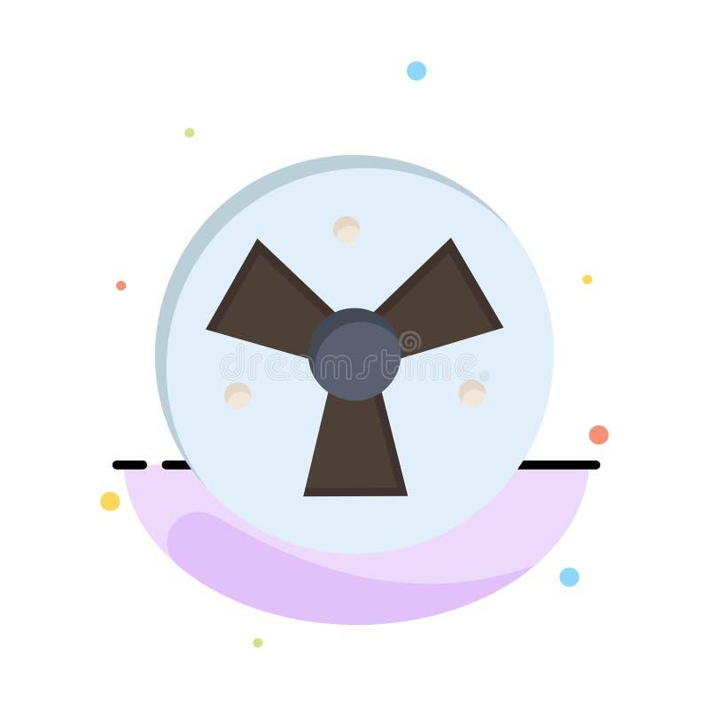 Радиация, предупреждение, медицинское, шаблон логотипа дела вентилятора r бесплатная иллюстрация