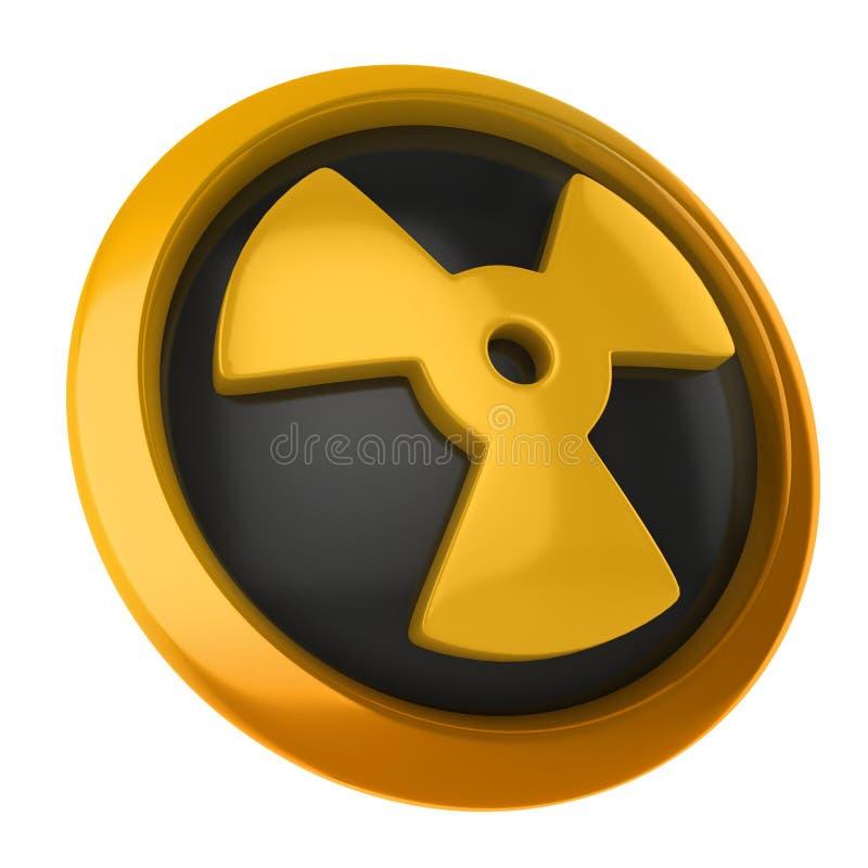 Радиоактивная икона 3d иллюстрация вектора