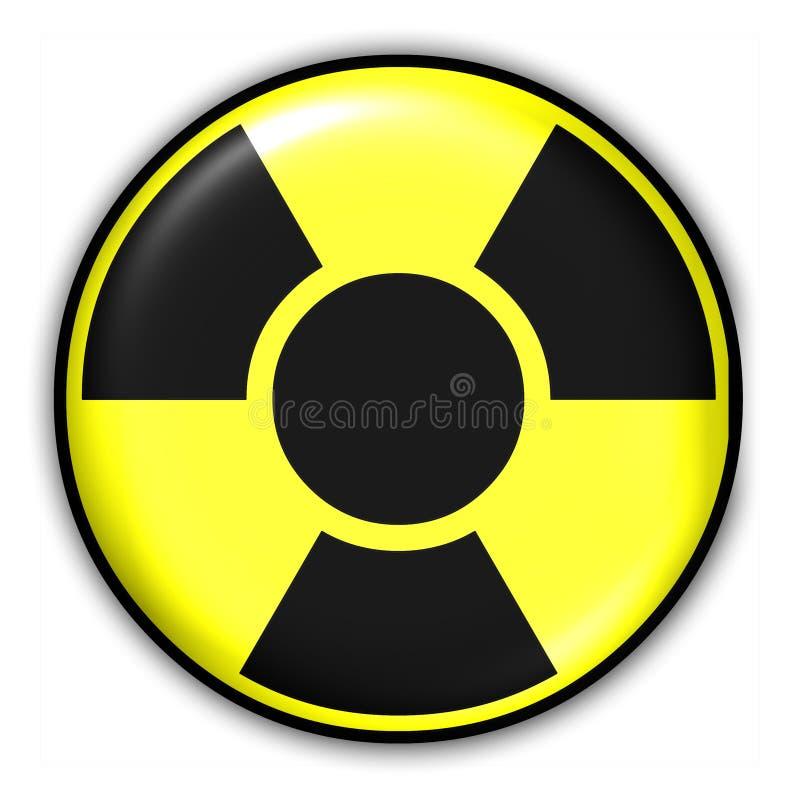 радиоактивный знак Стоковые Изображения RF