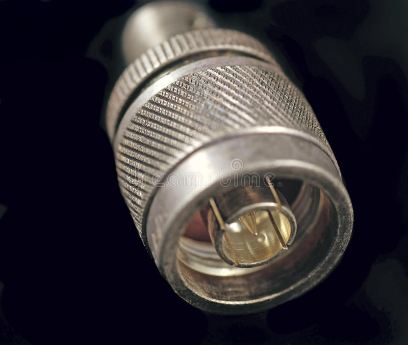 радиосвязь разъемов стоковая фотография