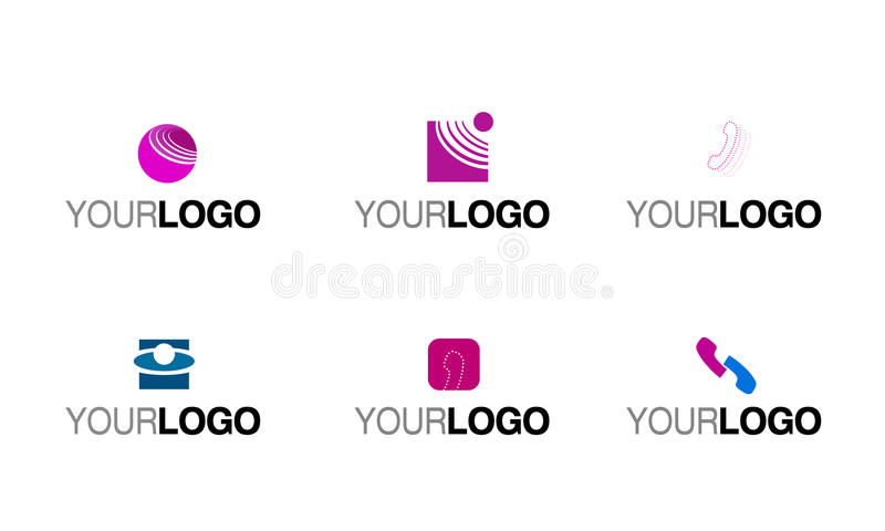 радиосвязь телефона логоса иллюстрация вектора