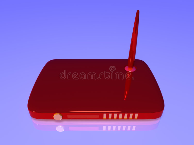 радиотелеграф маршрутизатора сети иллюстрация вектора