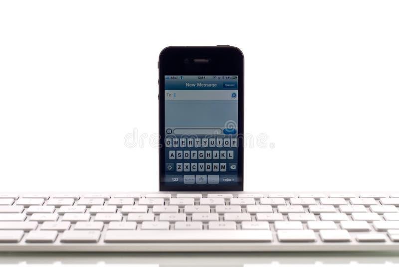 радиотелеграф поддержки клавиатуры яблока стоковые изображения rf