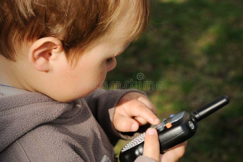 радиотелеграф станции мальчика стоковая фотография rf