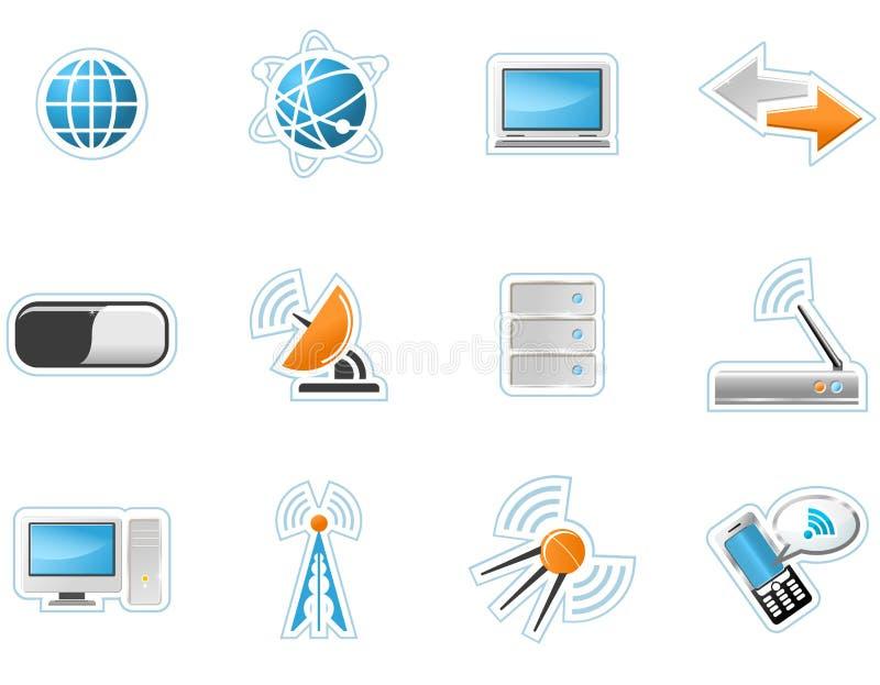 радиотелеграф технологии икон иллюстрация штока