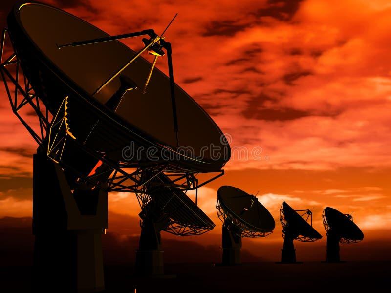 радио антенны иллюстрация вектора