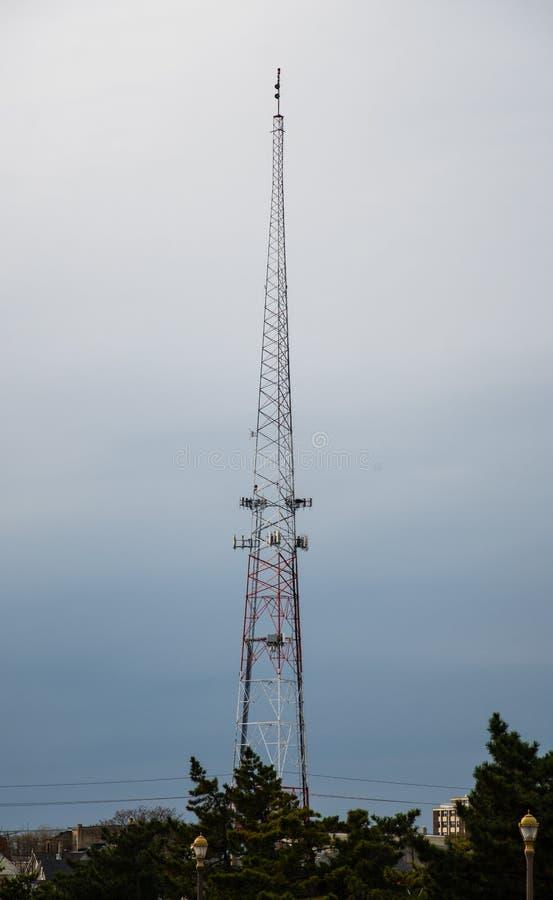 Радио и рангоут ТВ стоковое изображение