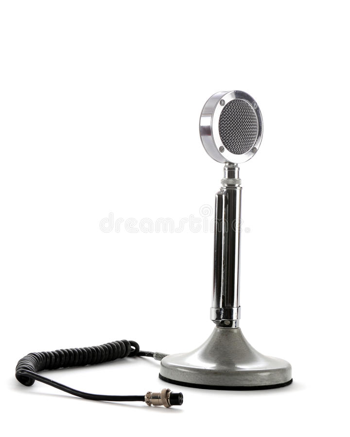 радио микрофона ветчины ретро стоковое изображение