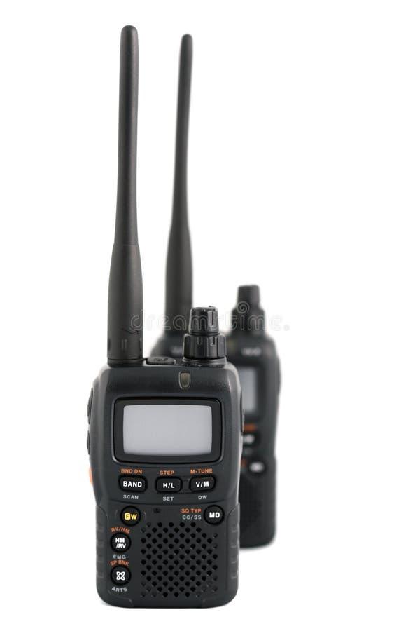 радио приборов связи двухстороннее стоковое изображение