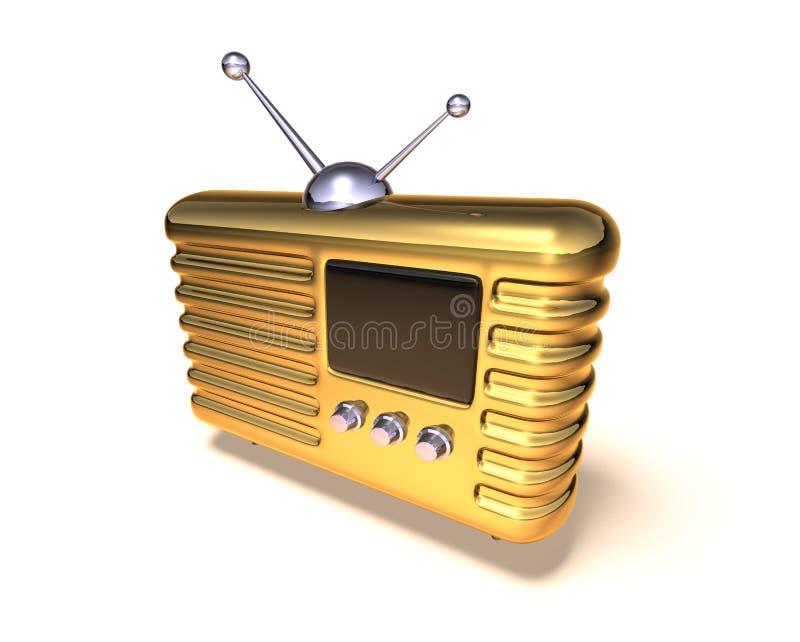 радио ретро иллюстрация штока