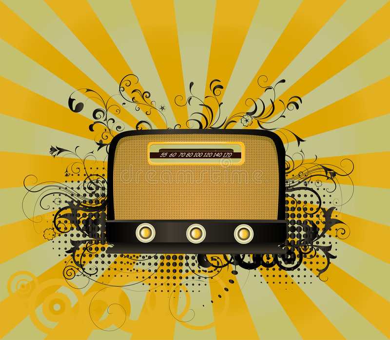 радио ретро иллюстрация вектора