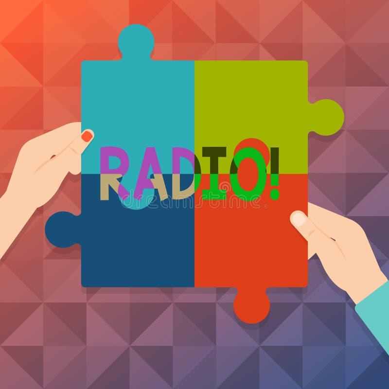 Радио текста сочинительства слова Концепция дела для радиотехнической аппаратуры используемой для слушать шоу 4 программ передач бесплатная иллюстрация