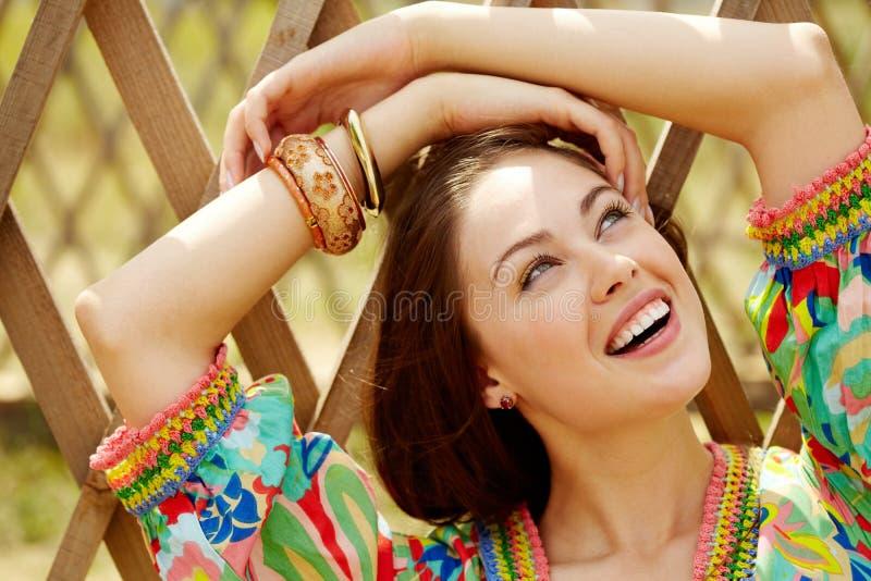Радостная девушка Стоковые Изображения RF