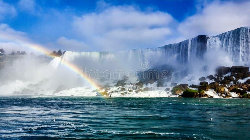 Радуга водопадов благоустраивает Ниагарский Водопад, Торонто стоковые фото