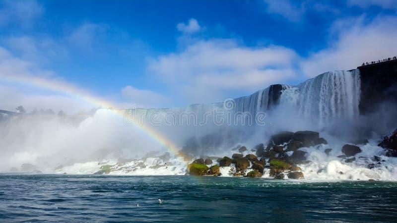 Радуга водопадов благоустраивает Ниагарский Водопад, Торонто стоковые изображения rf