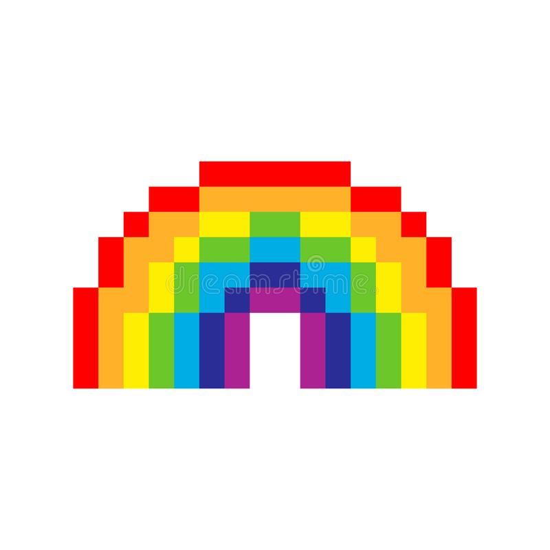 Dessin Pixel Art Chat Multicolore