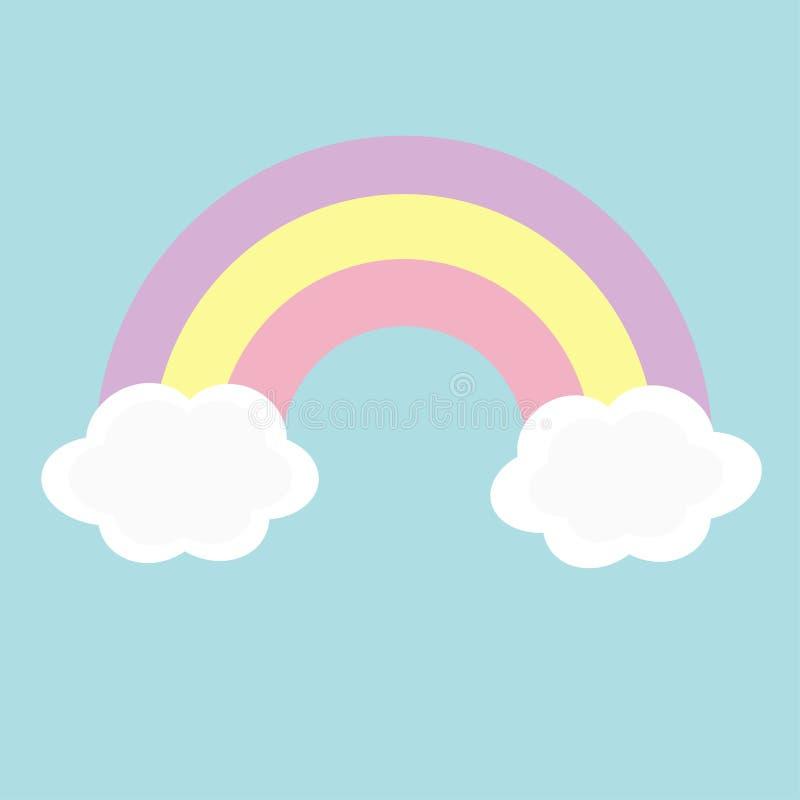 Радуга и 2 облака в небе Карточка волшебства влюбленности ...