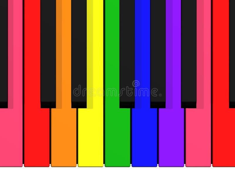 радуга клавиатуры иллюстрация вектора