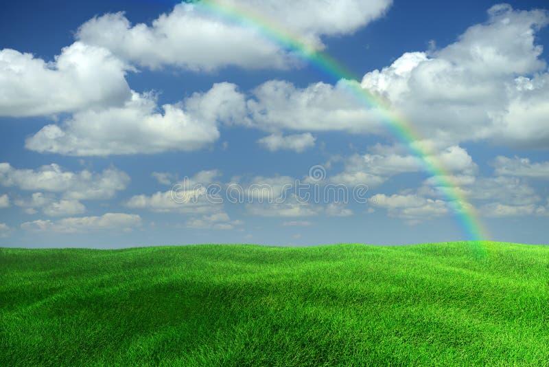 радуга ландшафта стоковые фото