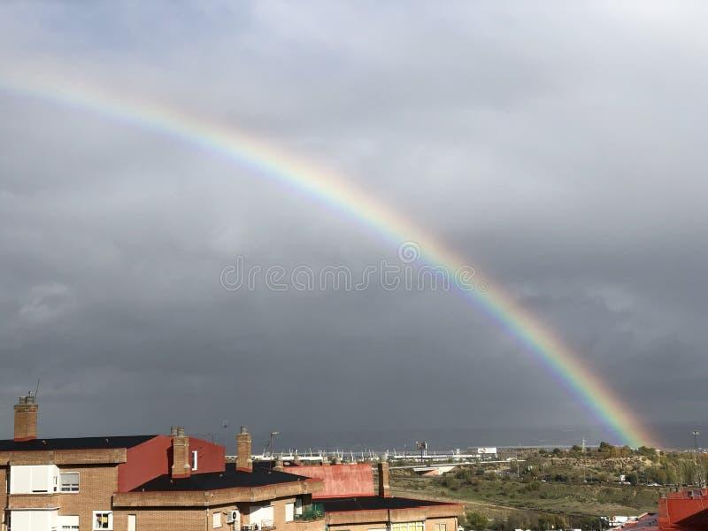 Радуга над Мадридом стоковая фотография rf