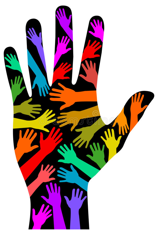 радуга руки eps разнообразности