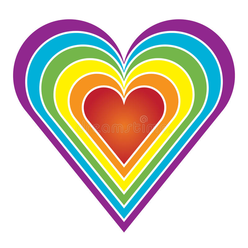 радуга сердца иллюстрация штока