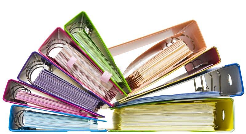 радуга скоросшивателей бумажная стоковые фото