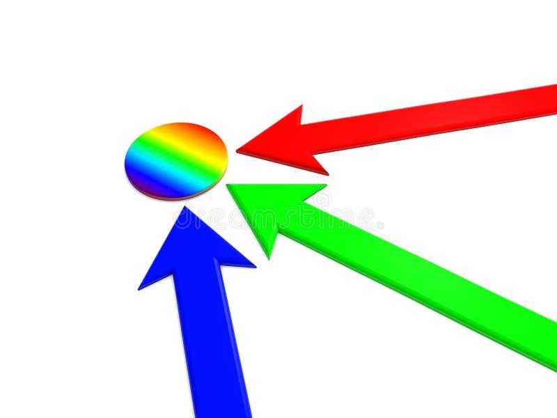 Download радуга указателя иллюстрация штока. иллюстрации насчитывающей представленный - 6857701