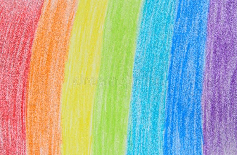 радуга чертежа crayon иллюстрация вектора
