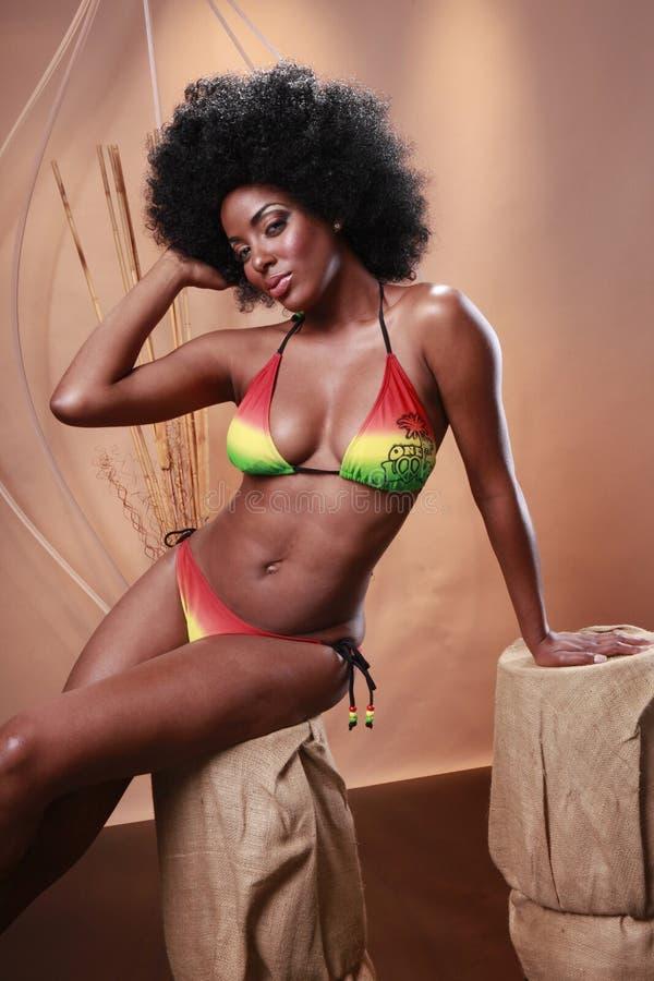радуга caribbean бикини стоковое изображение