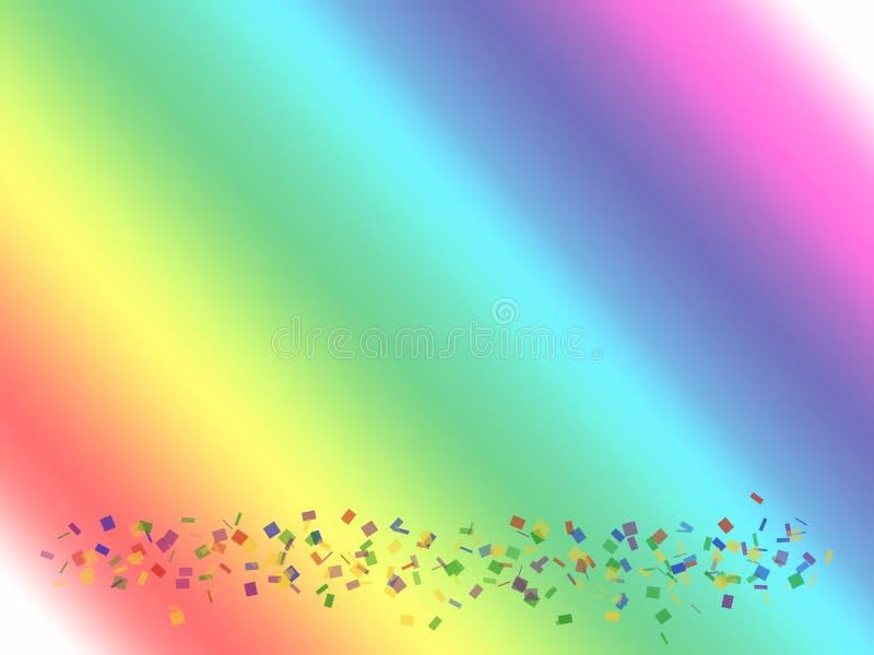 Download радуга confetti иллюстрация штока. иллюстрации насчитывающей past - 493906