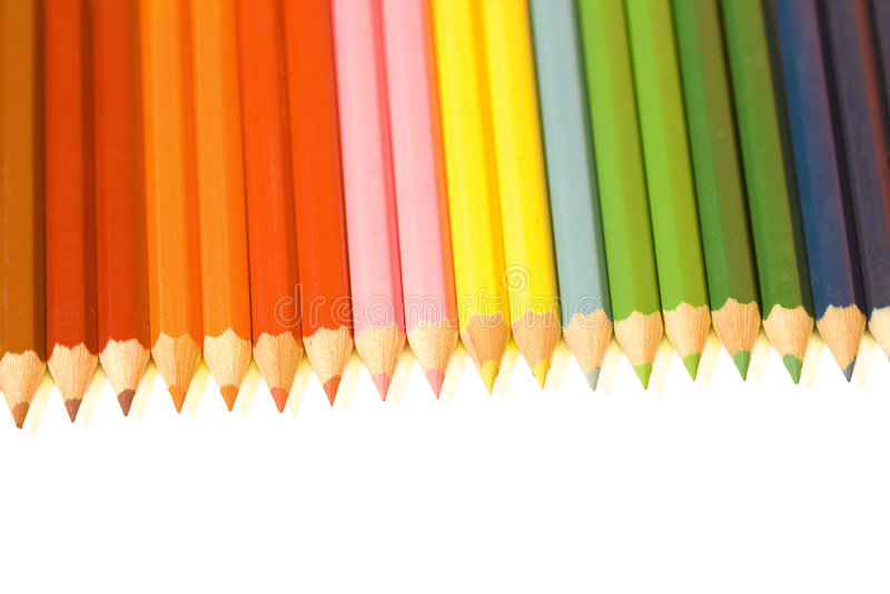 радуга crayon стоковое фото