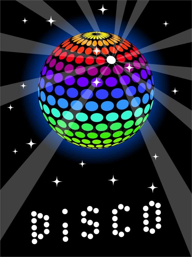 радуга discoball иллюстрация вектора