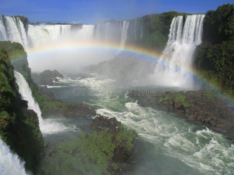 радуга iguassu стоковое изображение