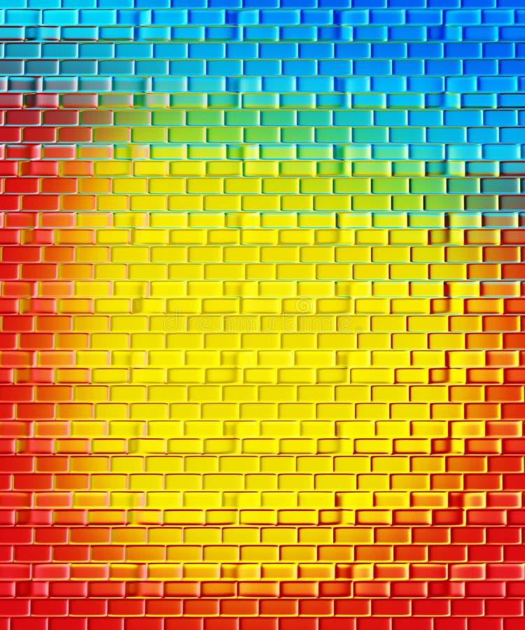 радуги кирпича предпосылки бесплатная иллюстрация