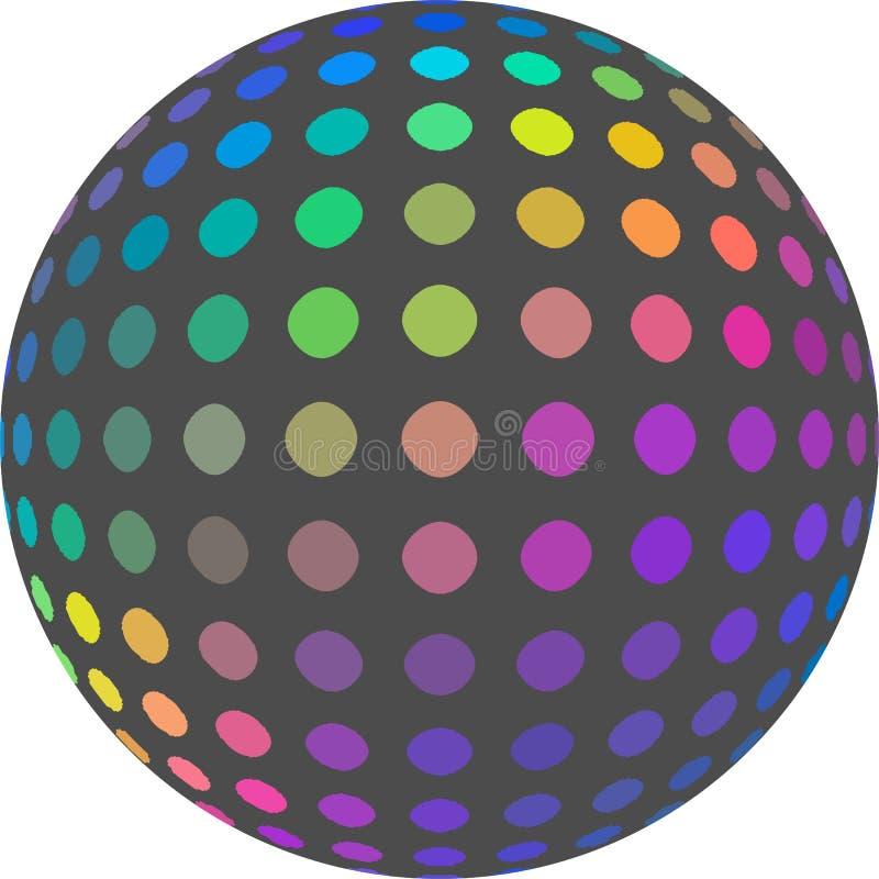 Радужный шарик 3d на белой изолированной предпосылке иллюстрация штока