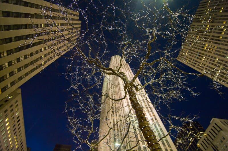 разбивочная ноча Рокефеллер стоковое изображение rf