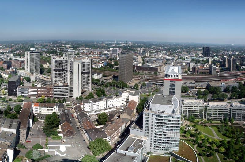 разбивочная панорама essen города стоковые фото