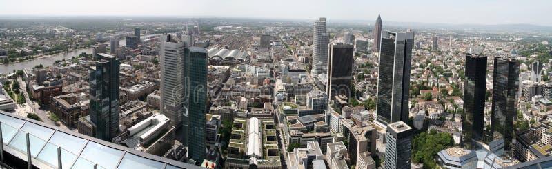разбивочная панорама frankfurt стоковое фото