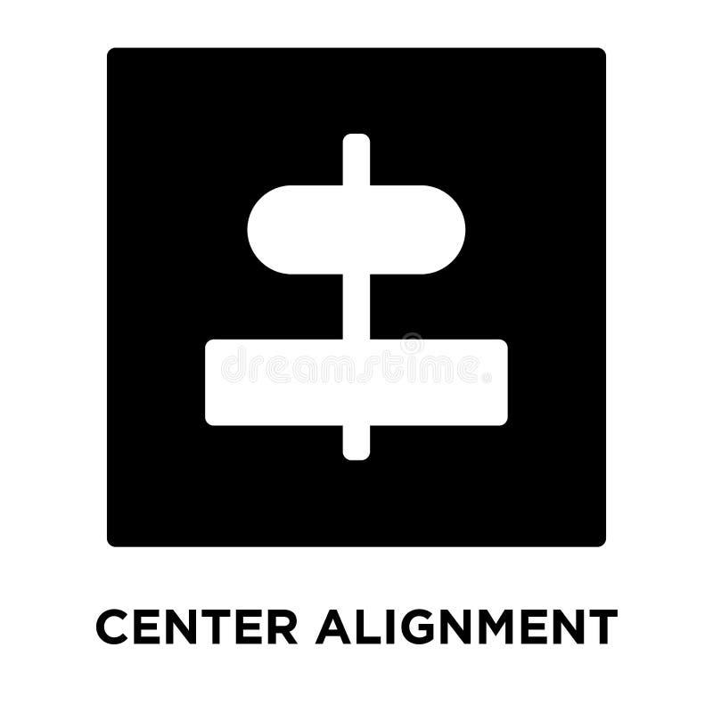 Разбивочный вектор значка выравнивания изолированный на белой предпосылке, логотипе иллюстрация штока