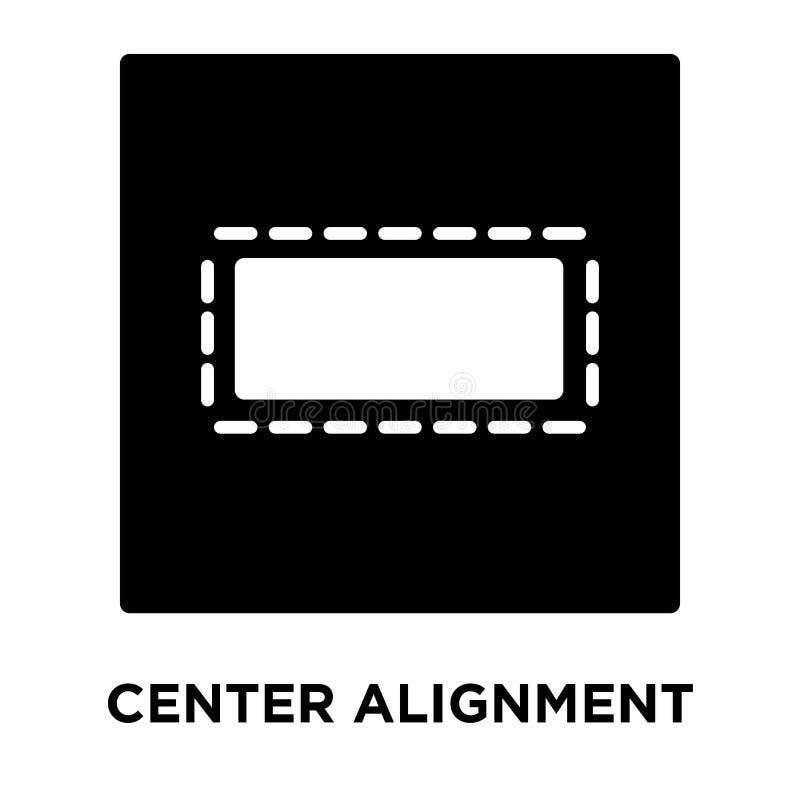 Разбивочный вектор значка выравнивания изолированный на белой предпосылке, логотипе иллюстрация вектора