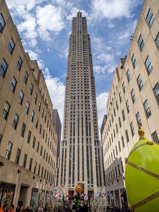 разбивочный город новое Рокефеллер york стоковые изображения