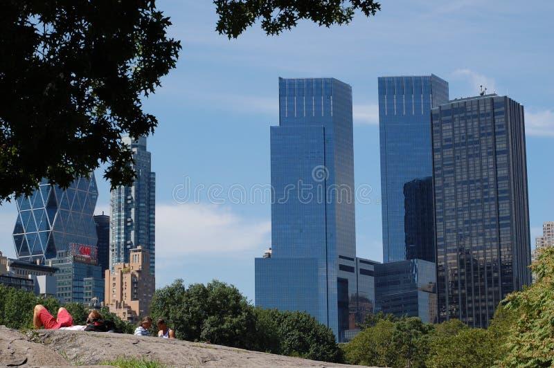 разбивочный центральный новый парк сигнал времени york стоковое изображение