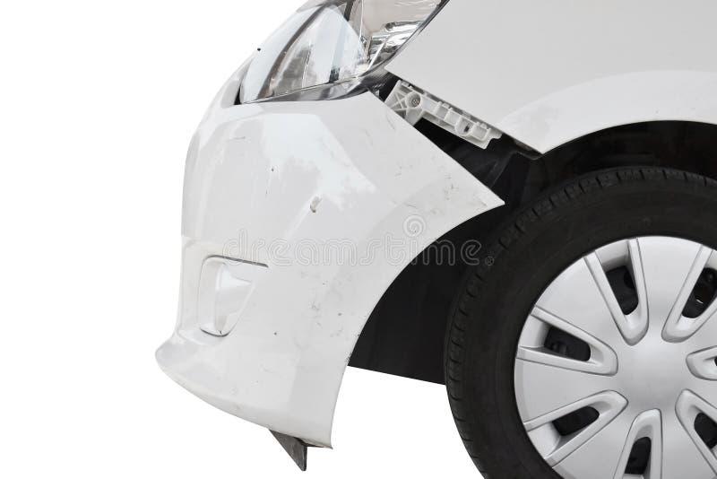 разбили автомобиль стоковое изображение rf