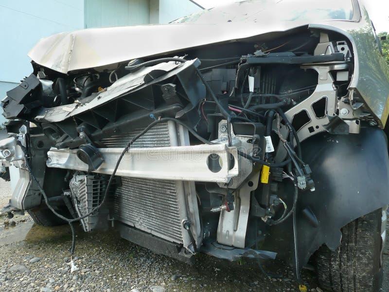 Разбили wrack автомобиля стоковое изображение rf