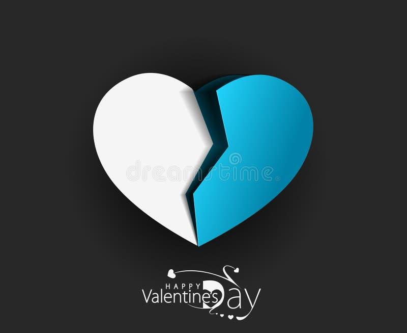 Разбитый сердце отрезка бумаги стоковая фотография rf