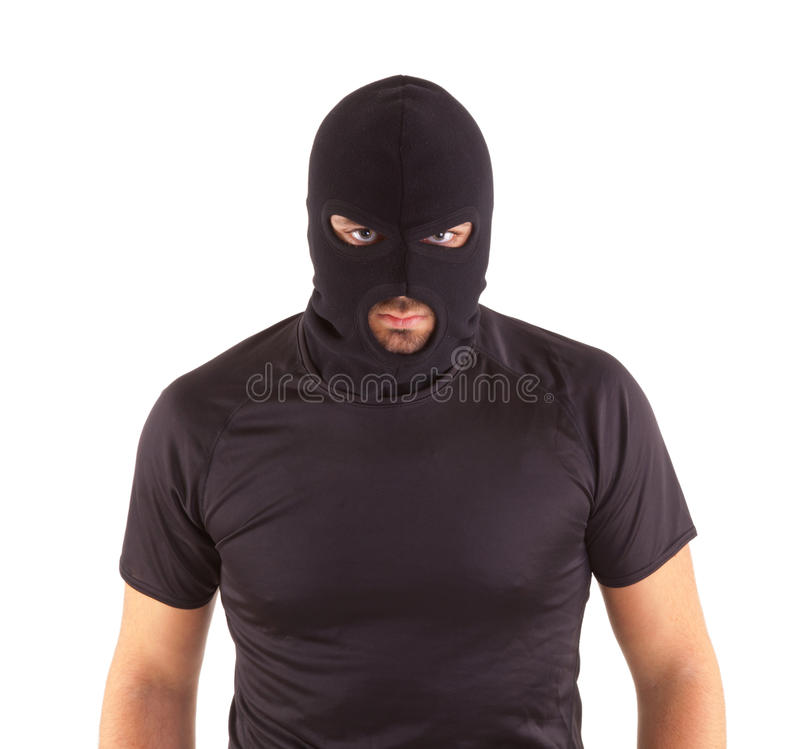 Разбойник с замаскировано стоковые фотографии rf