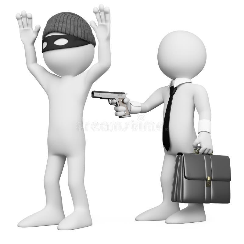 разбойничать разбойника бизнесмена 3d бесплатная иллюстрация