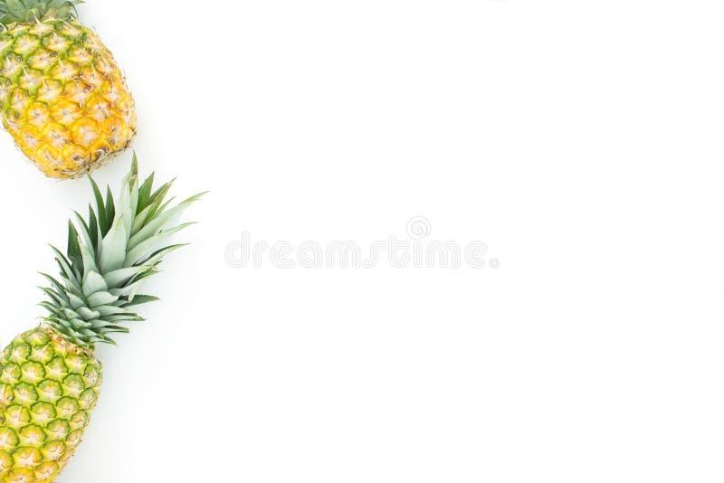 Разбросанная предпосылка плода ананаса стоковые фотографии rf